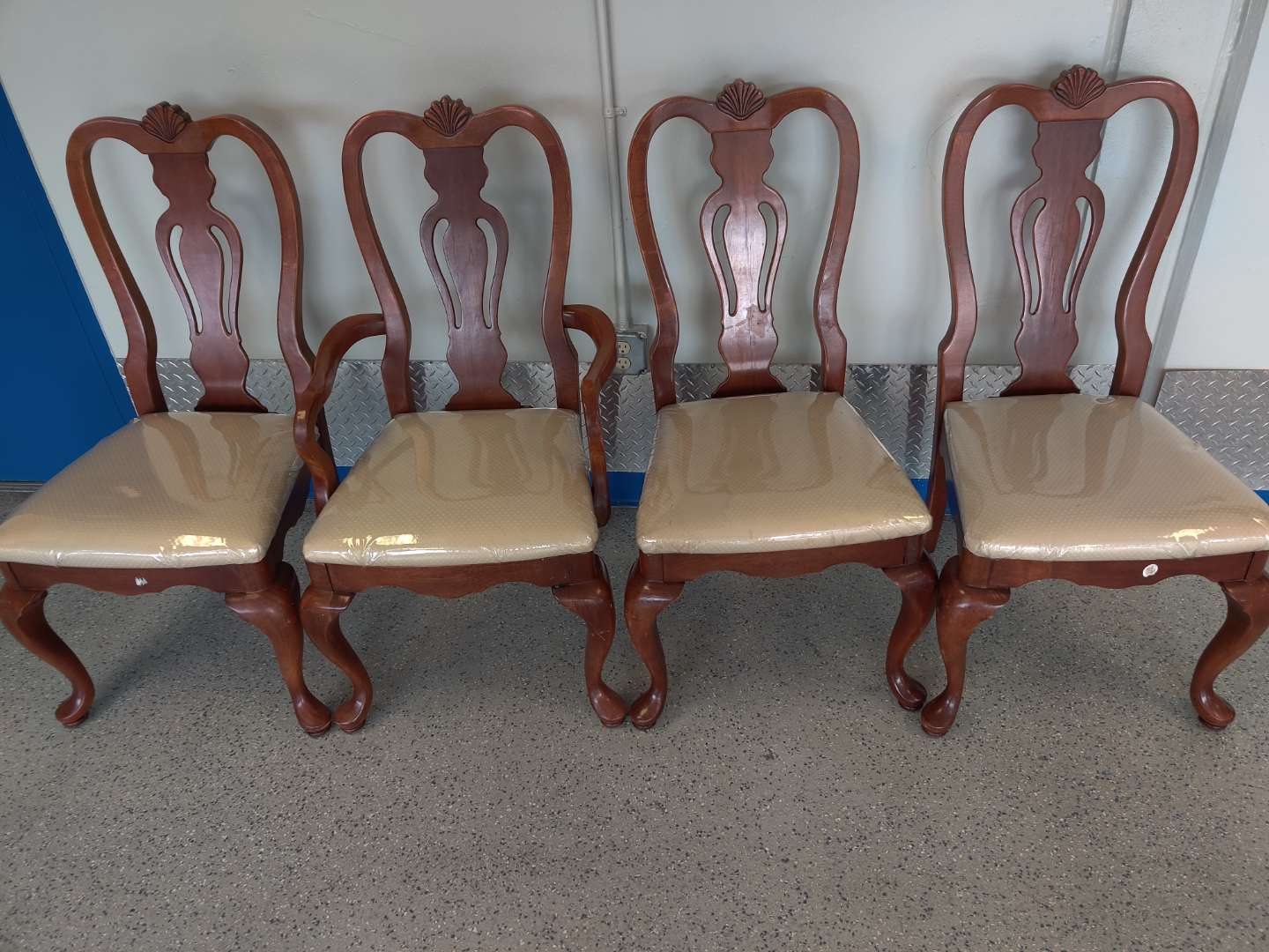 # 153 set of four cherry dining room chairs made by Lexington one arm chair