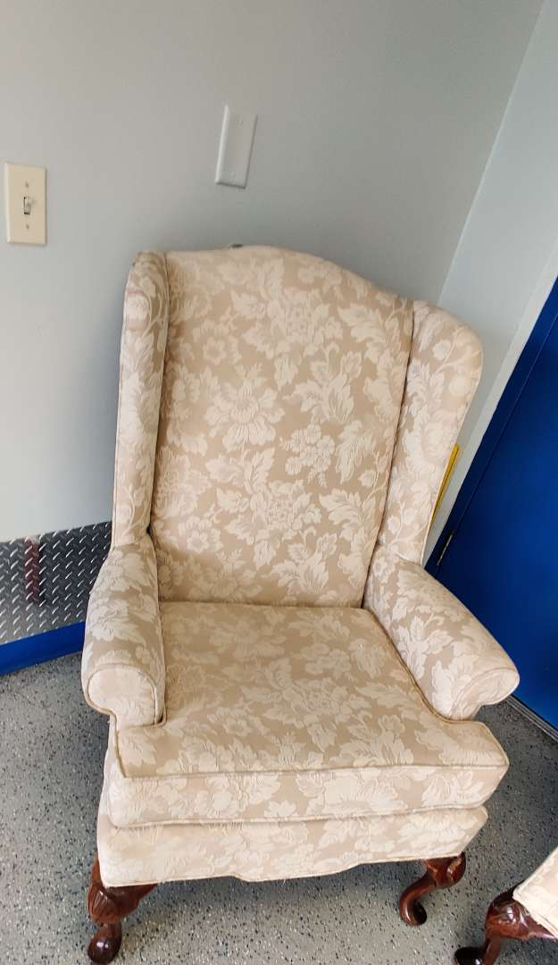 # 155 very nice Queen Anne wingback chair