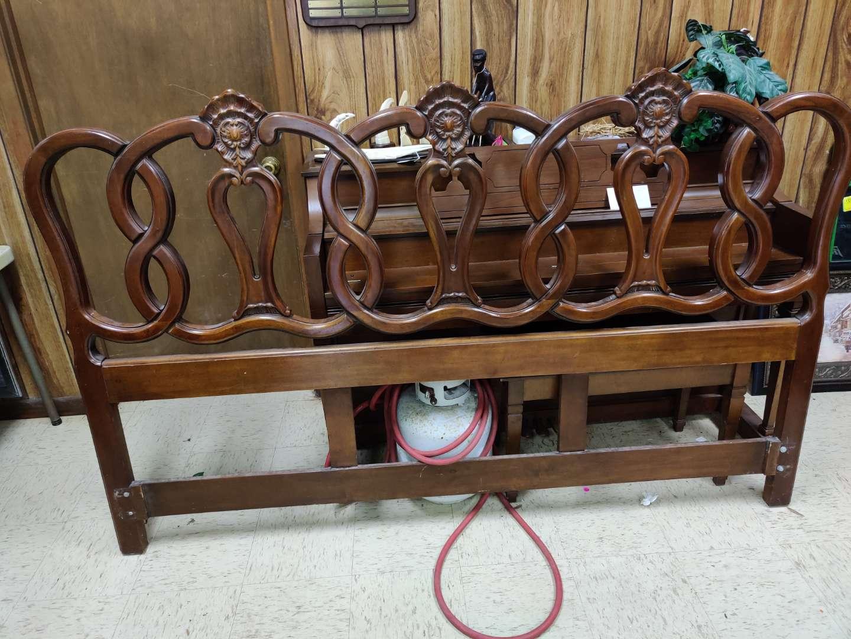 # 167 king size French century furniture headboard