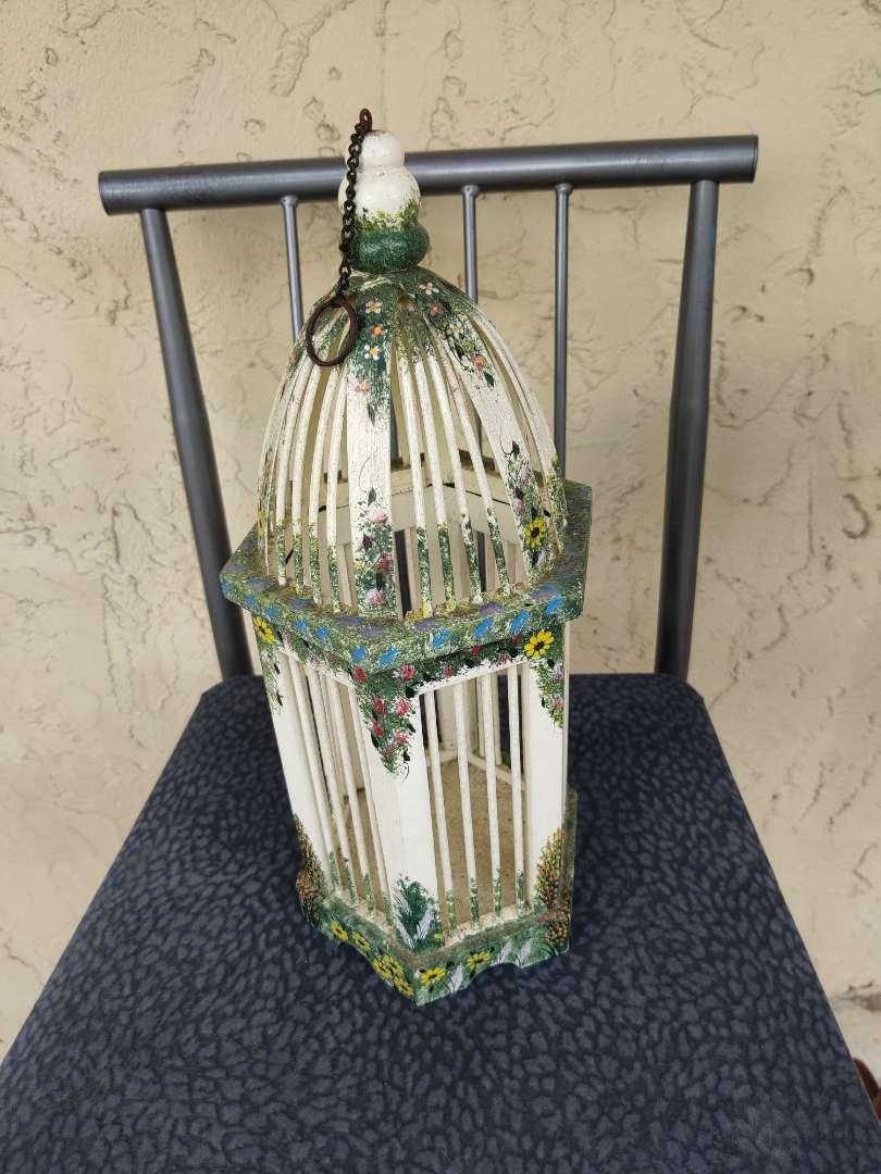 # 179 very nice little decorator birdhouse wooden 16 in tall