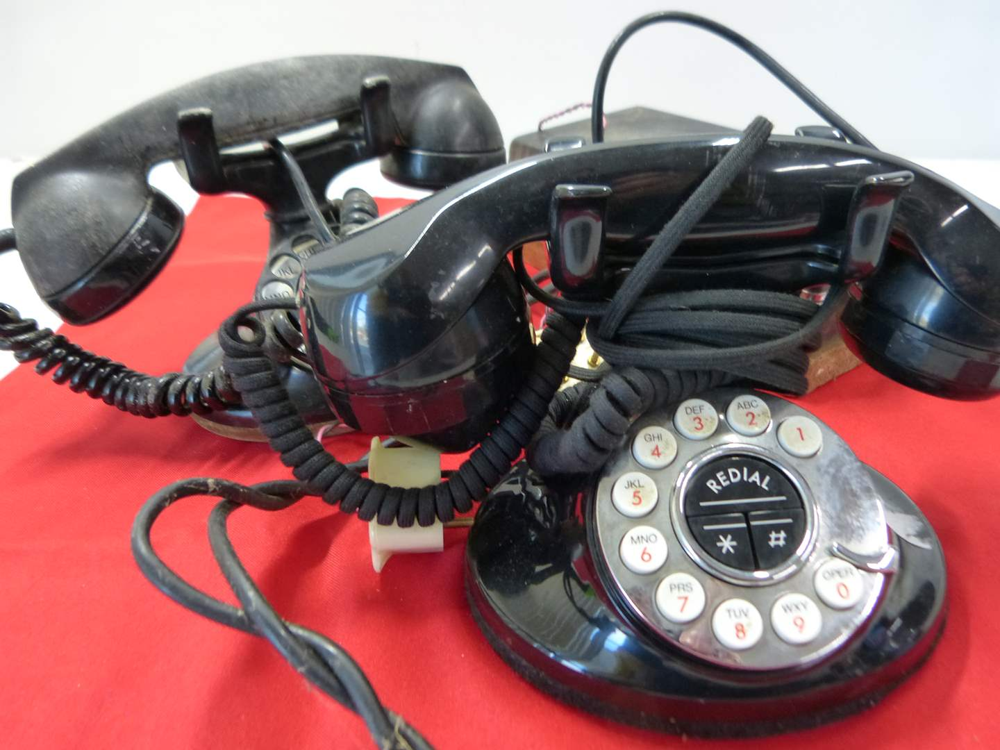 Lot # 217  2 rotor dial telephones one is antique (main image)