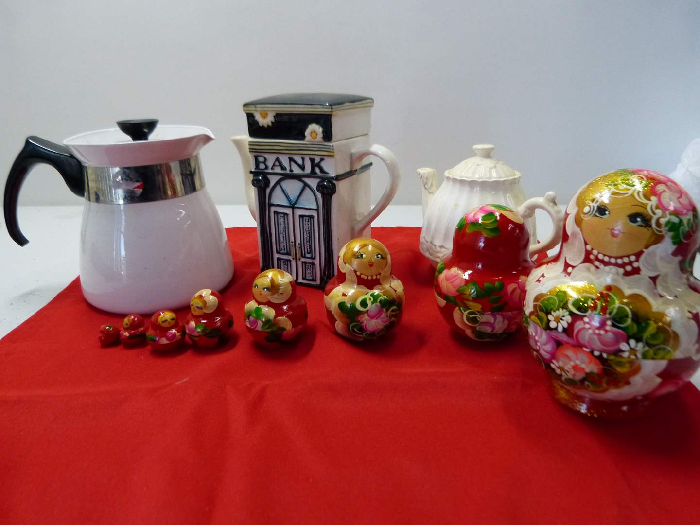 Lot # 218  Lot of collectibles to include Russian nesting doll (main image)