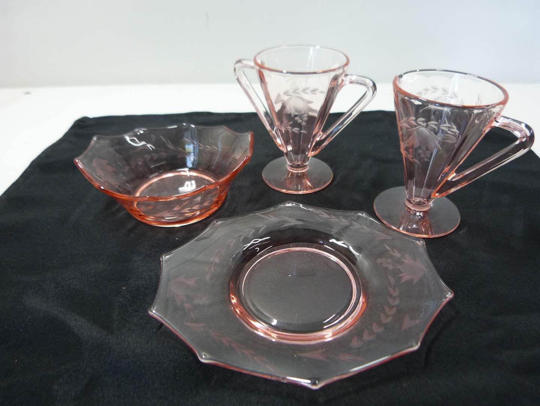 Lot # 226  Nice grouping pink depression glass