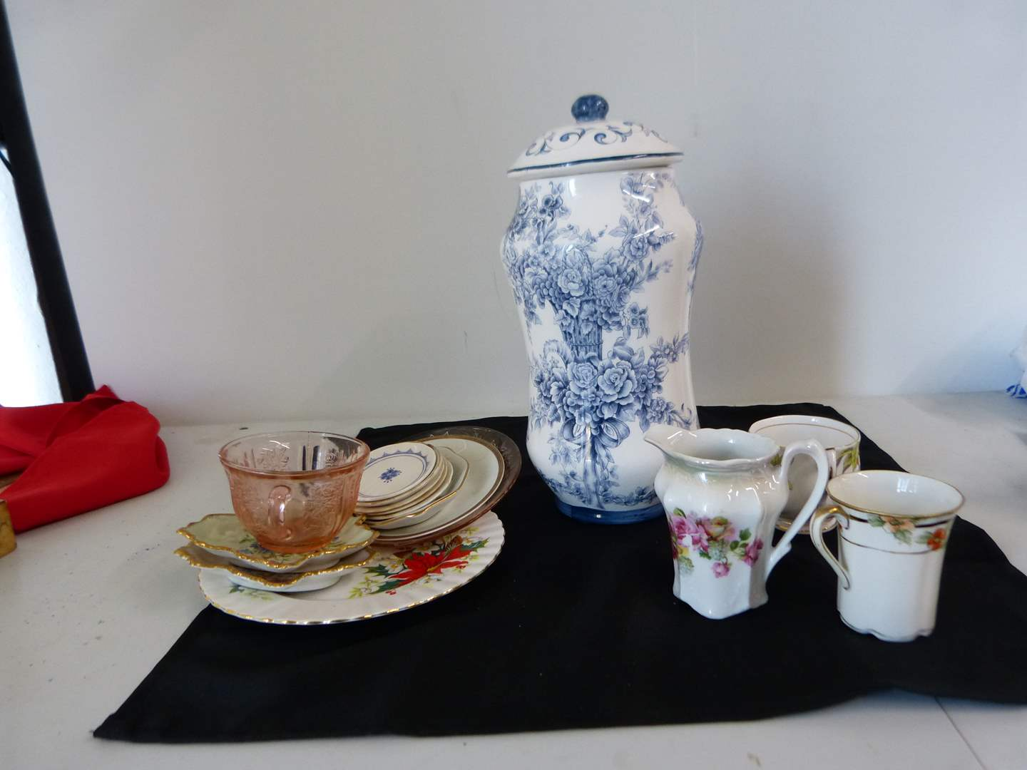Lot # 235  Collection of china porcelain & glass