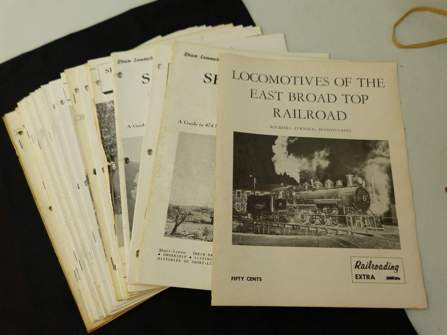 Lot # 275  Locomotives of the East Board Top Railroad  (large group of magazines) (main image)