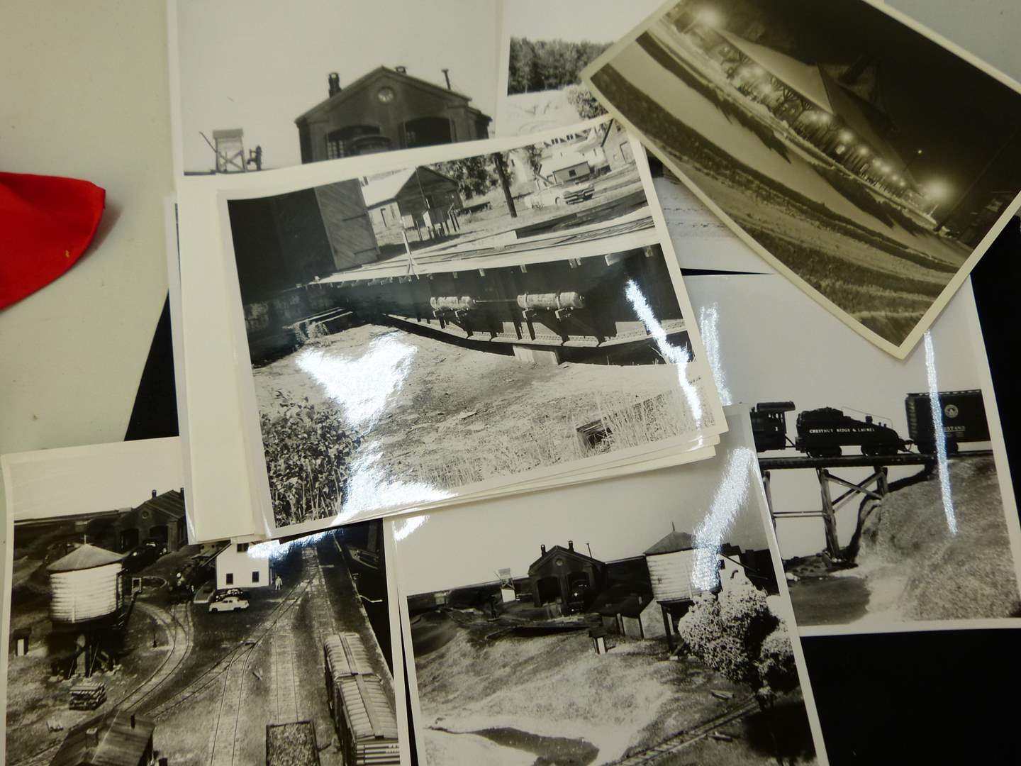 Lot # 276  8X11 actual black & white photos of trains (very suitable for framing) (main image)