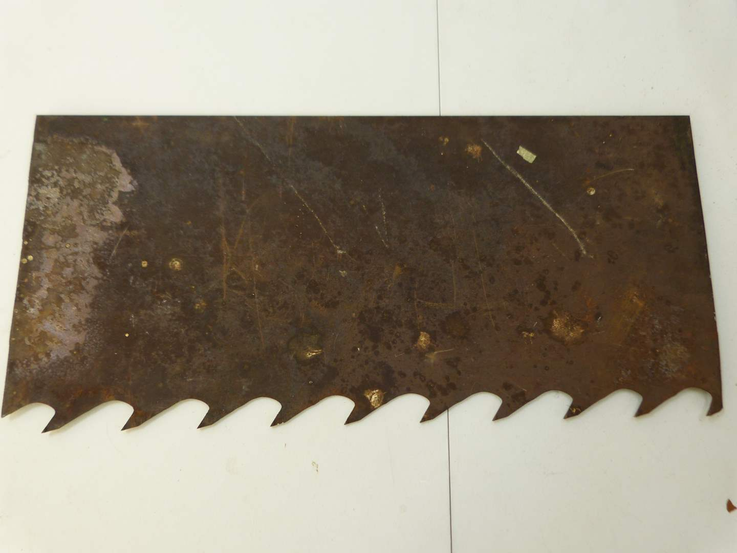 Lot # 277  Actual chunk of HEAVY saw piece from closed down Pennsylvania wood mill (main image)
