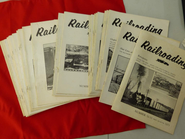 Lot # 278  Large lot of Railroading magazines