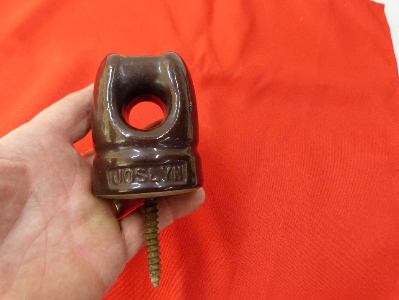 Lot # 283  Real Joslyn brown insulator (main image)