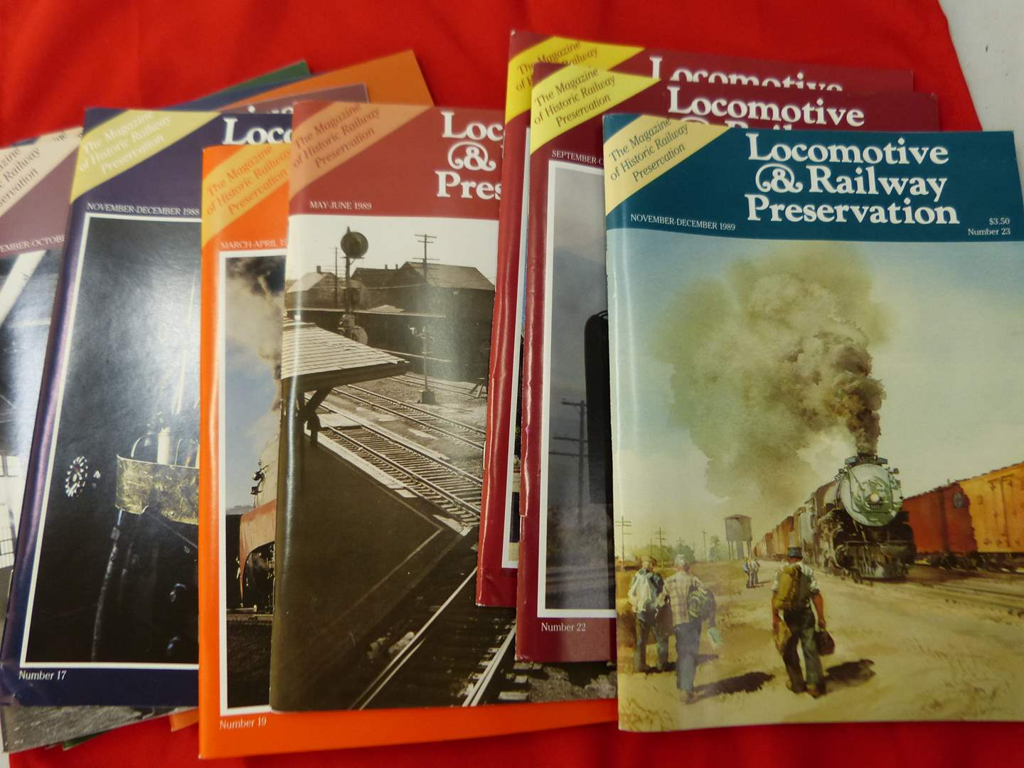 Lot # 285  Large collection of Locomotive & Railroad Preservation magazines