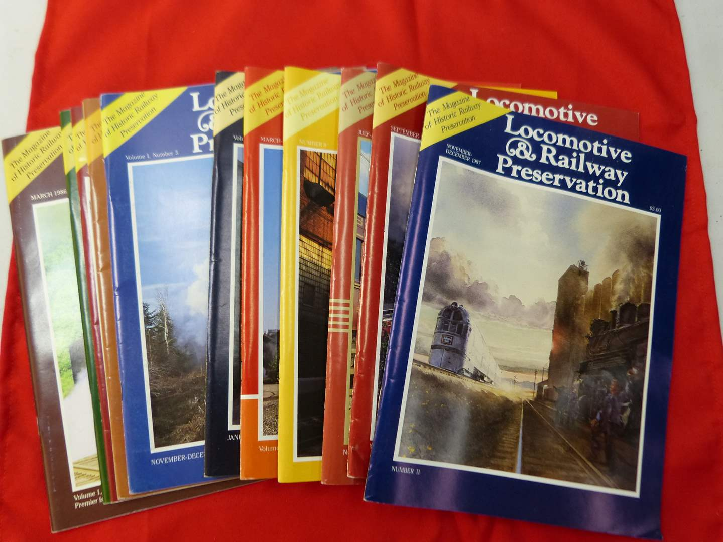 Lot # 286   Large collection of Locomotive & Railroad Preservation magazines