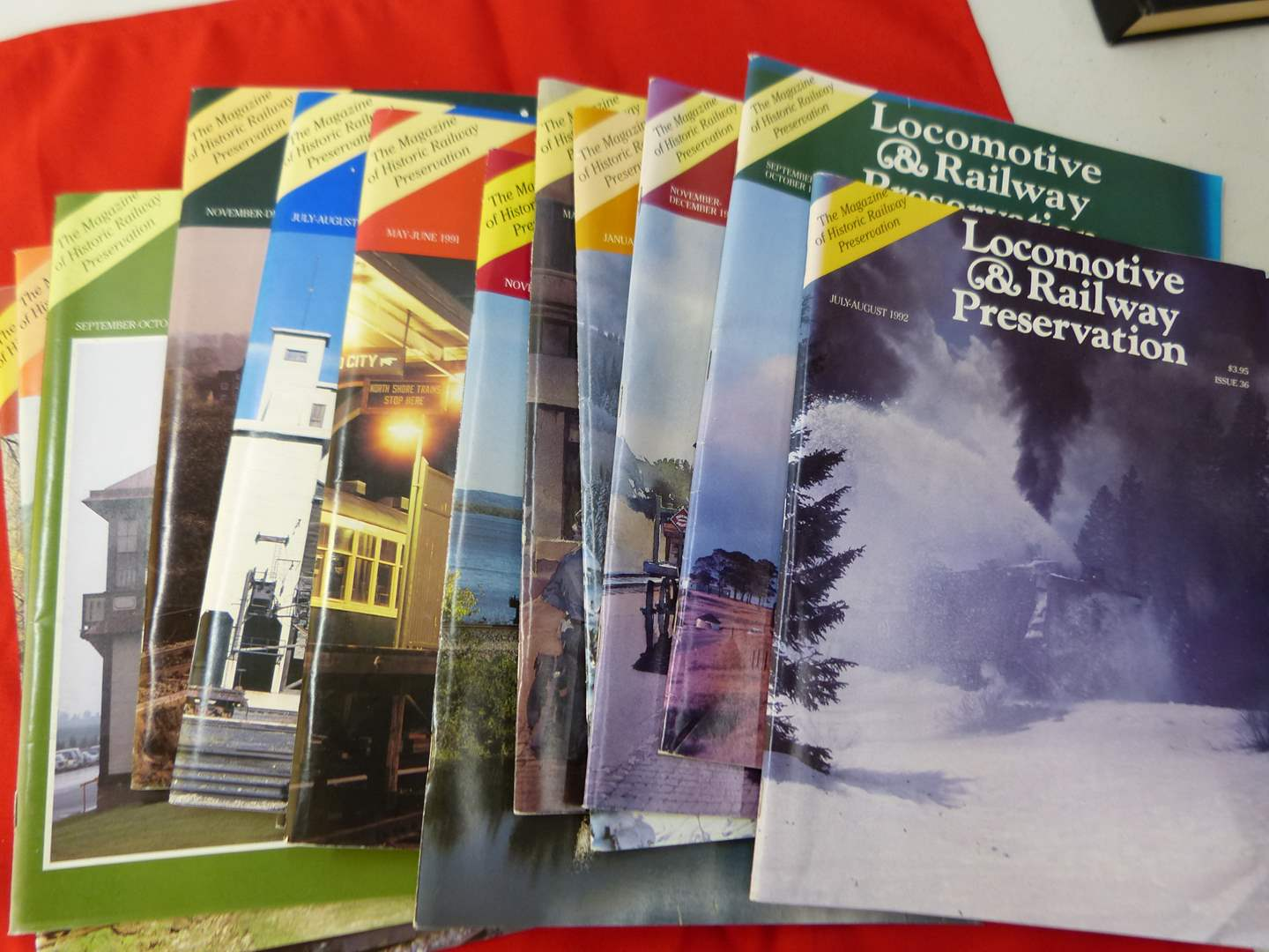 Lot # 287   Large collection of Locomotive & Railroad Preservation magazines (main image)