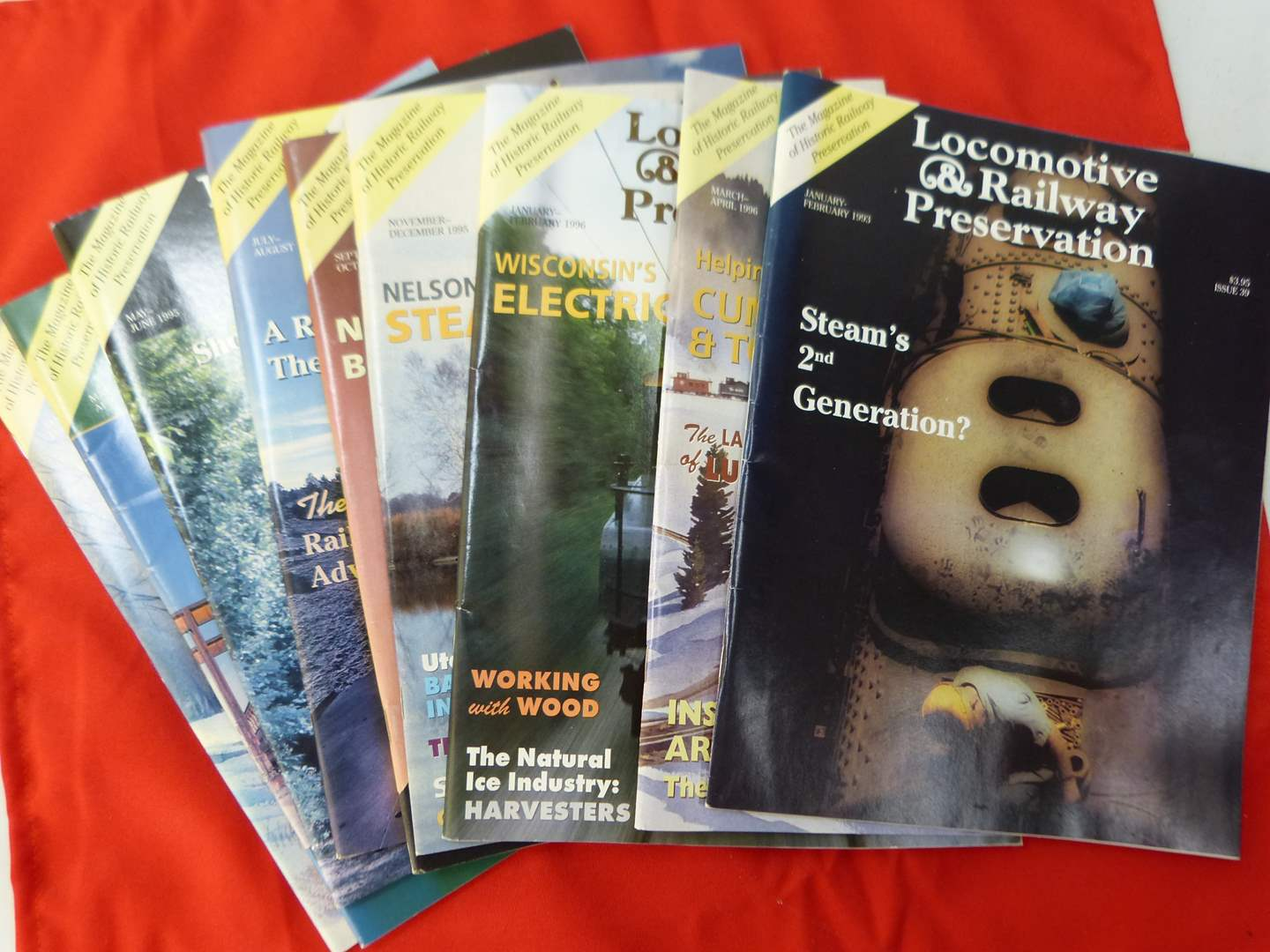 Lot # 288   Large collection of Locomotive & Railroad Preservation magazines