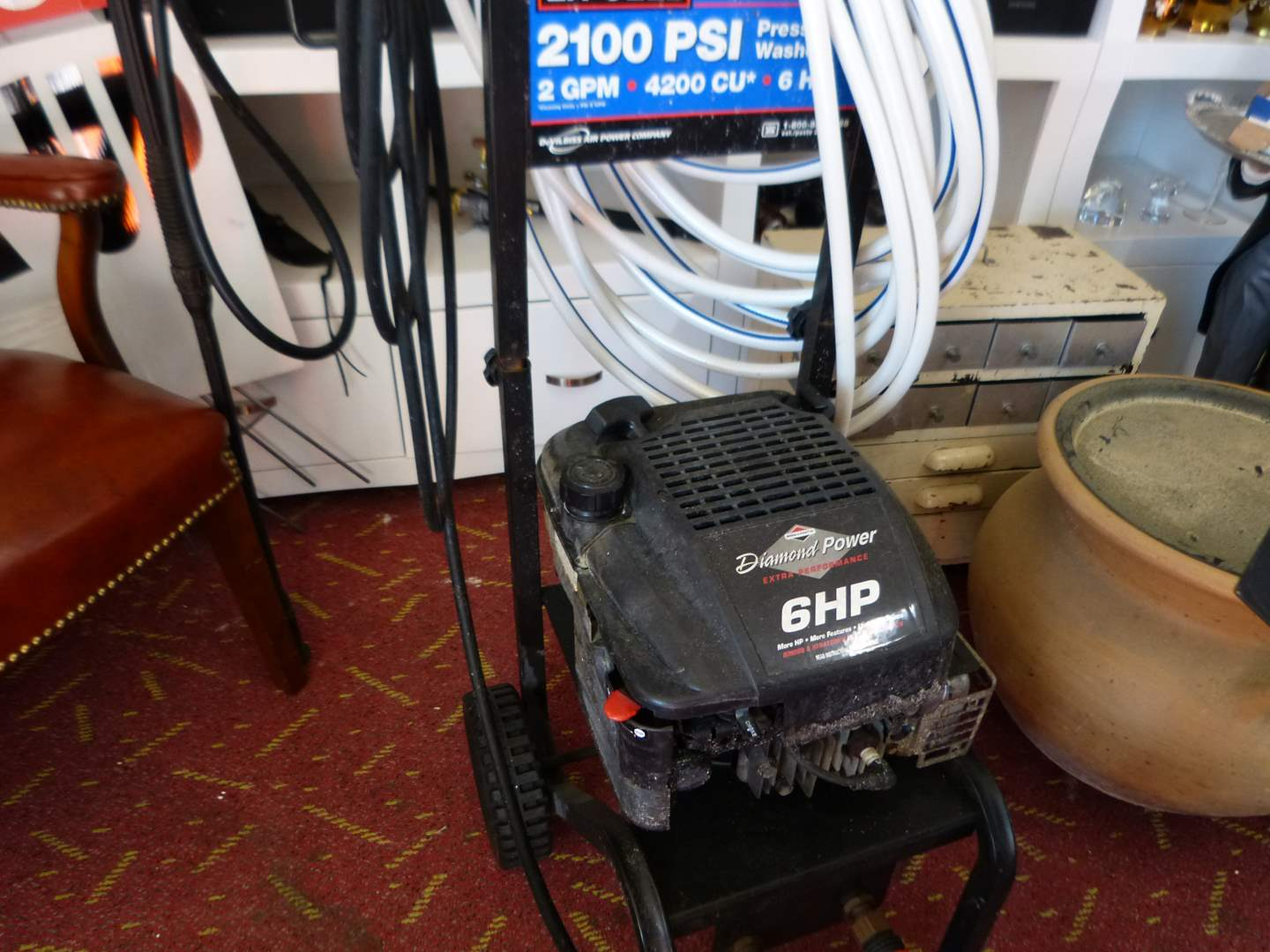 Lot # 298  EC-CELL 2100 PSI 6HP power washer (not tested but strong compression)