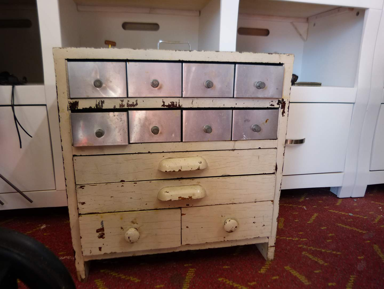 Lot # 299  Nice utility 12 drawer aluminum chest (main image)