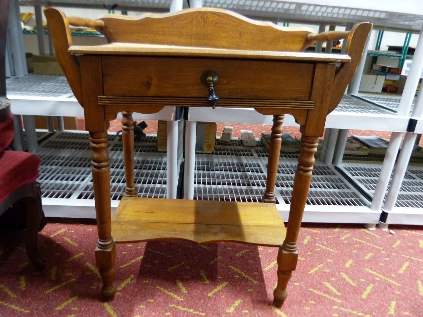 Lot # 13  Nice antique wash stand in great condition (center board needs to be re-nailed) easy fix