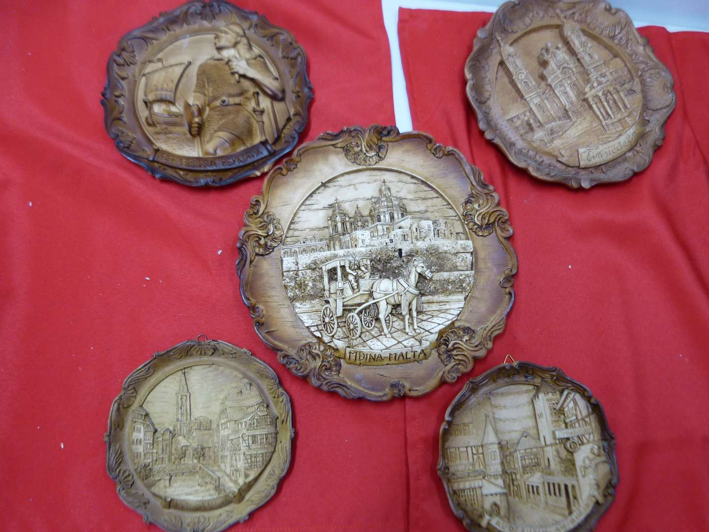 Lot # 150  Collection of wood style travel wall plates