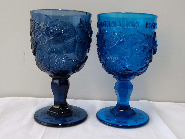Lot # 71   2 FENTON Madonna Inn glasses (guaranteed Fenton) (main image)