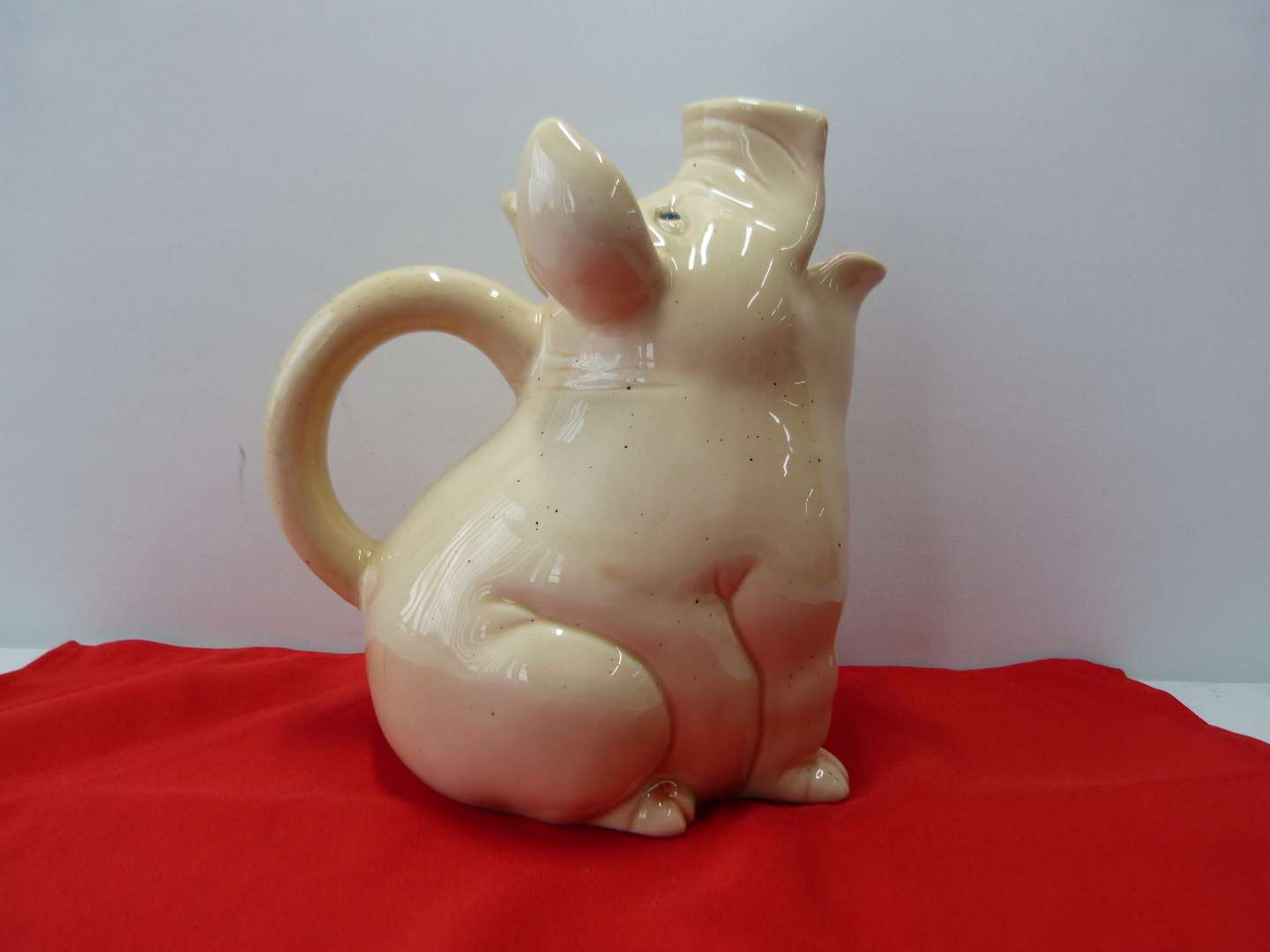 Lot # 80  Large pic creamer/milk pitcher McCoy?  (perfect condition)