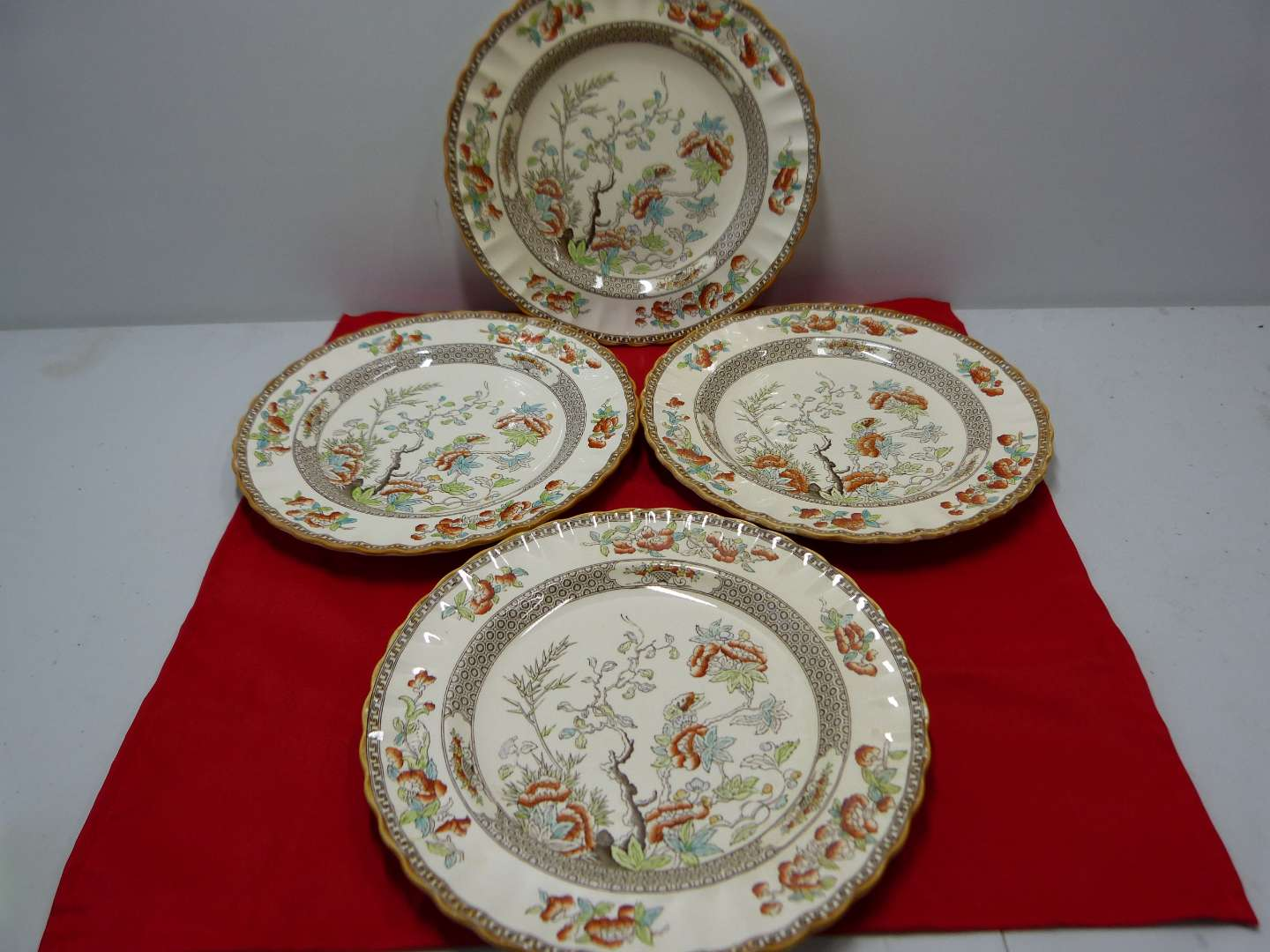 Lot # 86  Copeland Spode England 4 large dinner plates (main image)