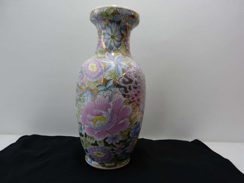 """Lot # 95  Large 12"""" Oriental style vase (main image)"""