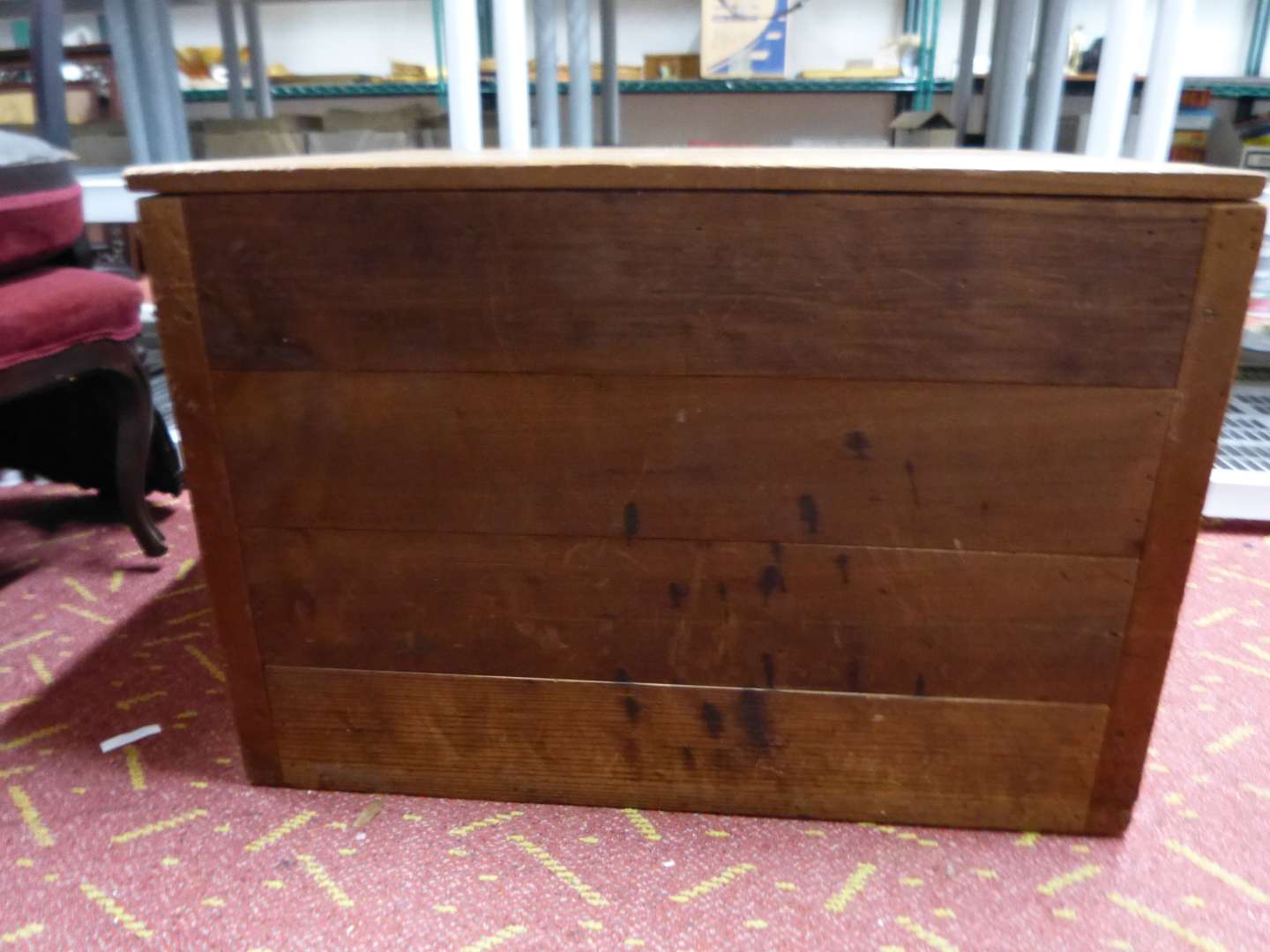 Lot # 14  Home made large wood chest (great condition)