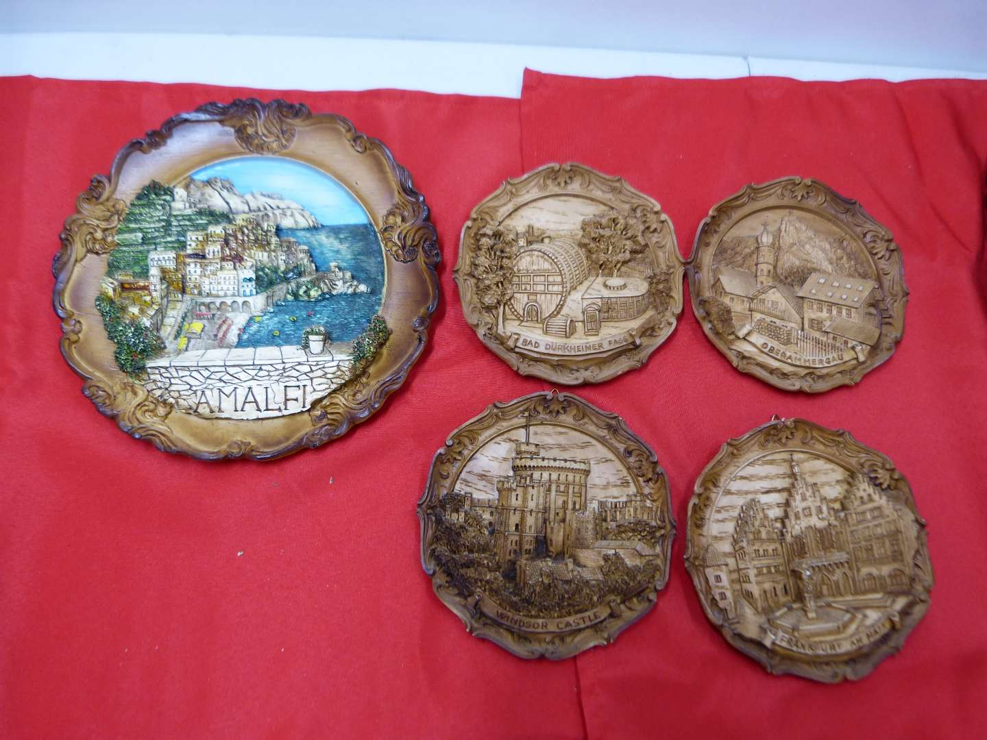 Lot # 146  Collection of wood style travel wall plates