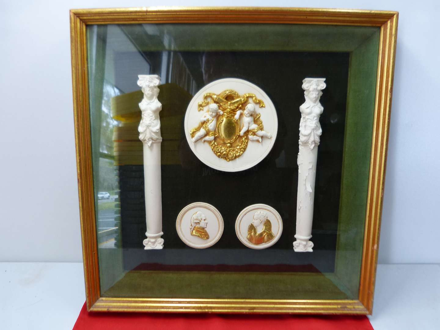 Lot # 155  Awesome Pre-Victorian style vintage shadow box (great condition)