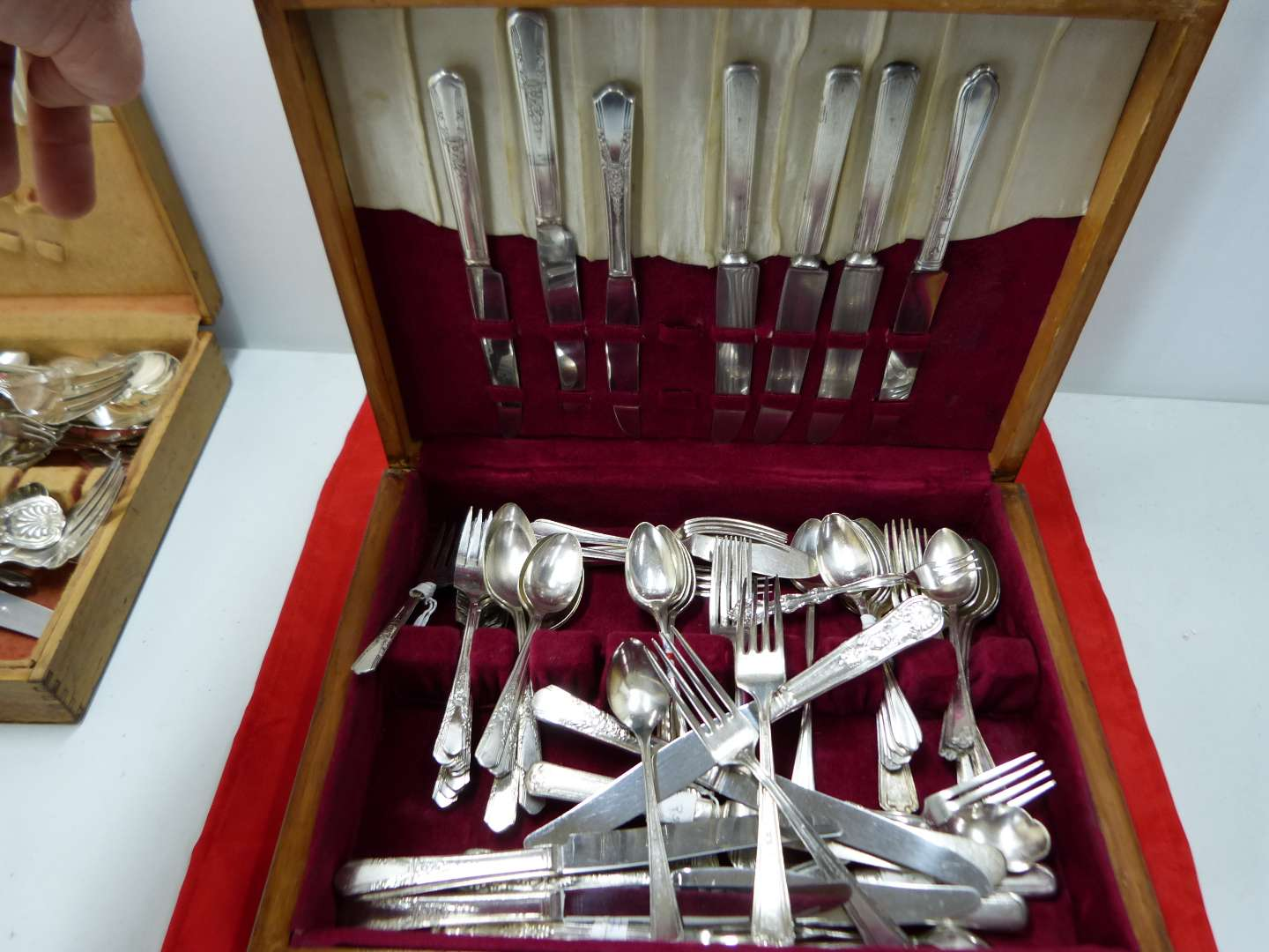 Lot # 159   Large lot of silver plate flatware