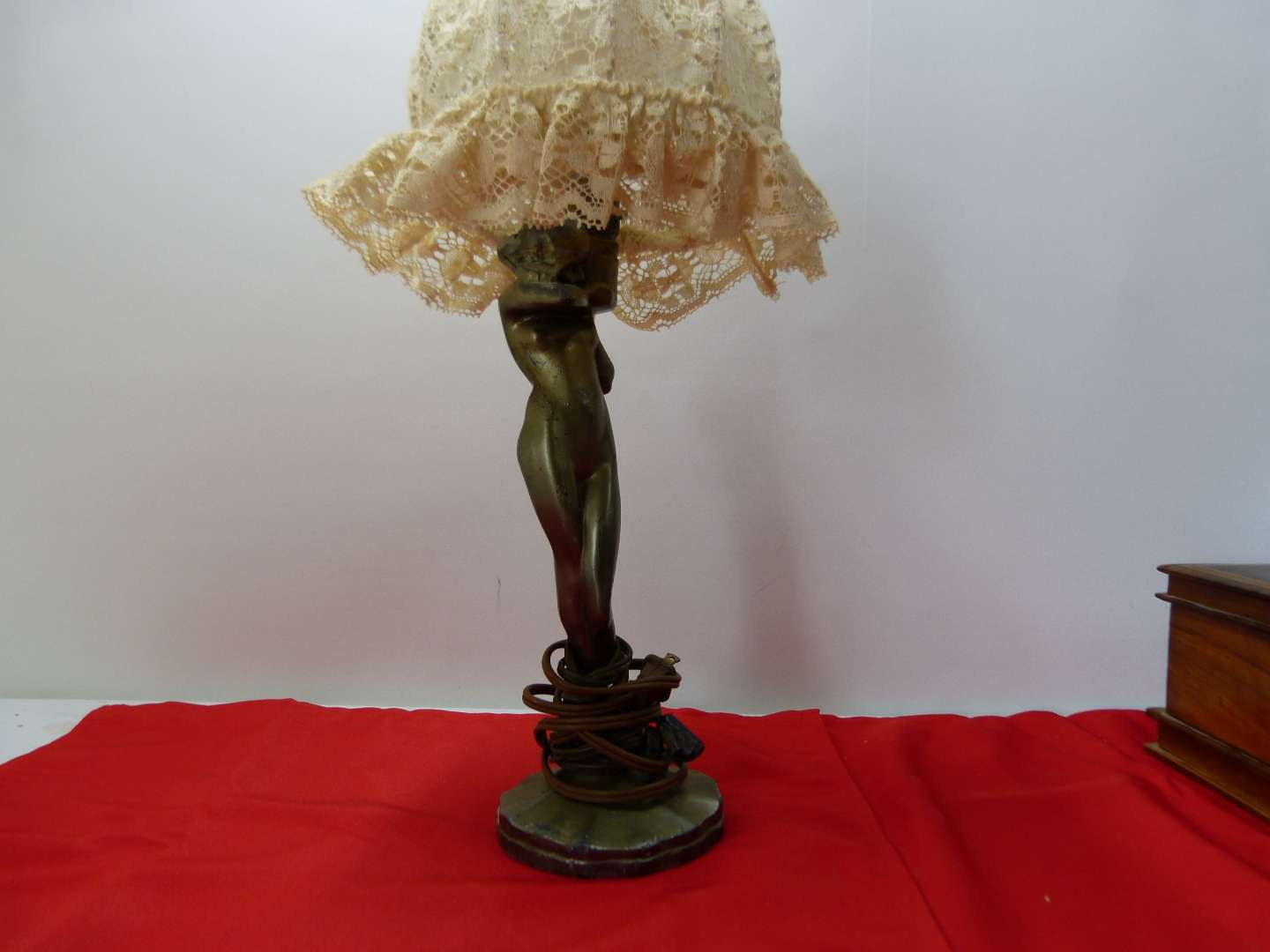 Lot # 162   Mid Century Modern partially nude lady lamp