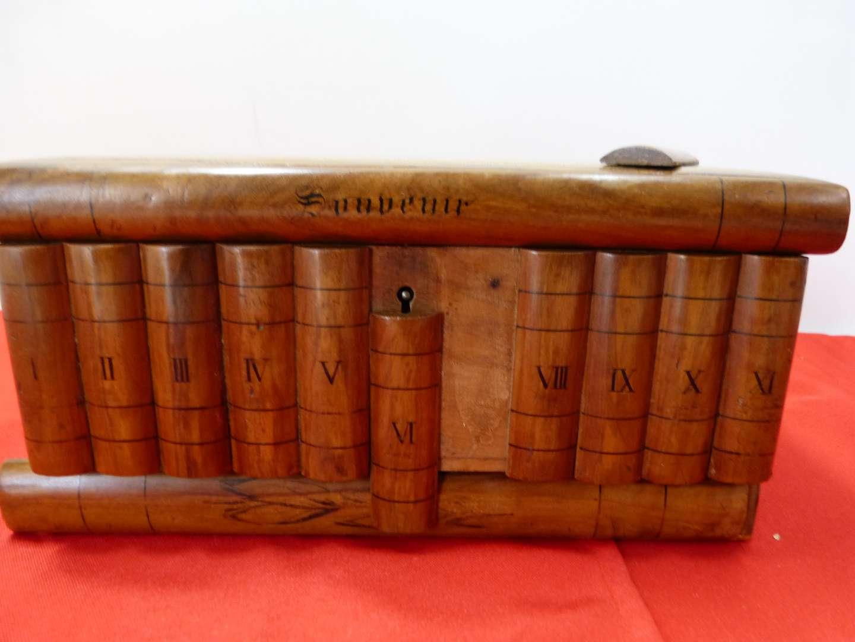 Lot # 163   Interest trinket/jewelry box (secret drawer on bottom but you will need a key) one panel needs glue