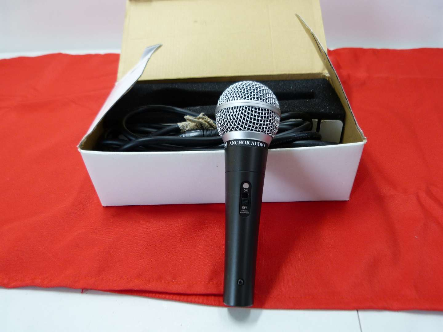 Lot # 167  Like new anchor microphone in box