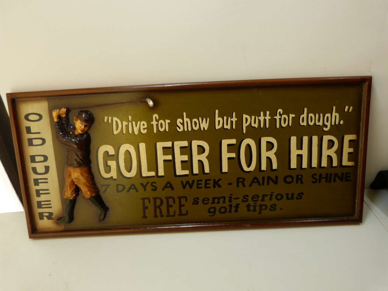 Lot # 171  Nice golf sign