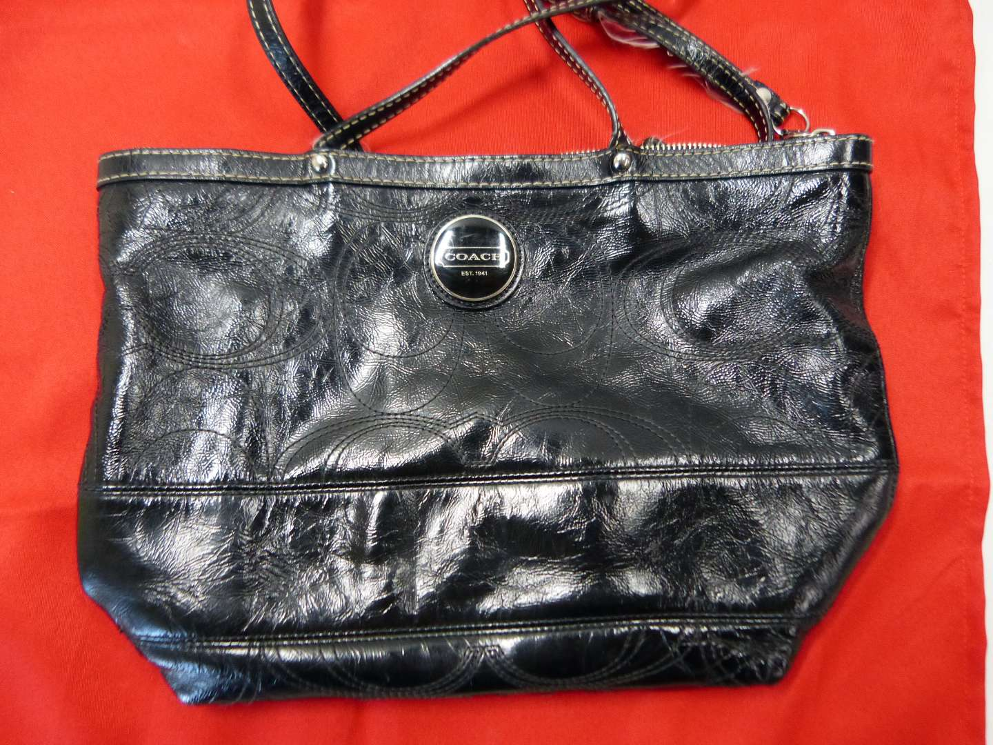 Lot # 203  Authentic Coach bag (does show wear & needs cleaning)