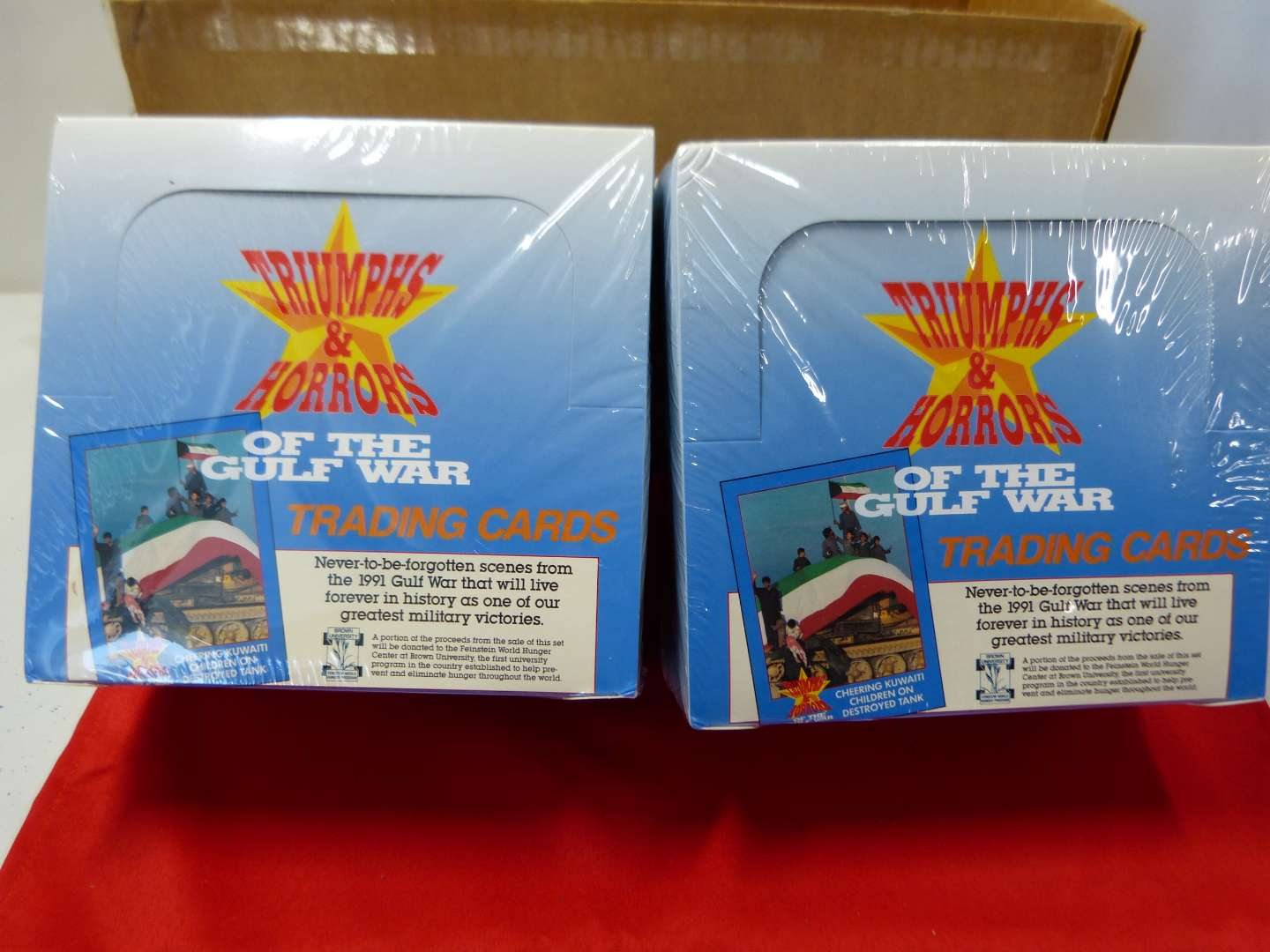 Lot # 221  2 boxes of Gulf War Trading Cards