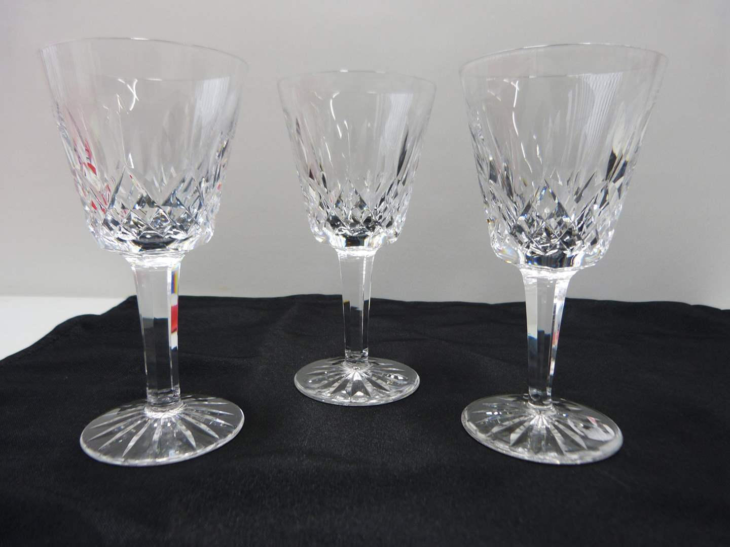 Lot # 30  3 Waterford Lismore pattern wine glasses