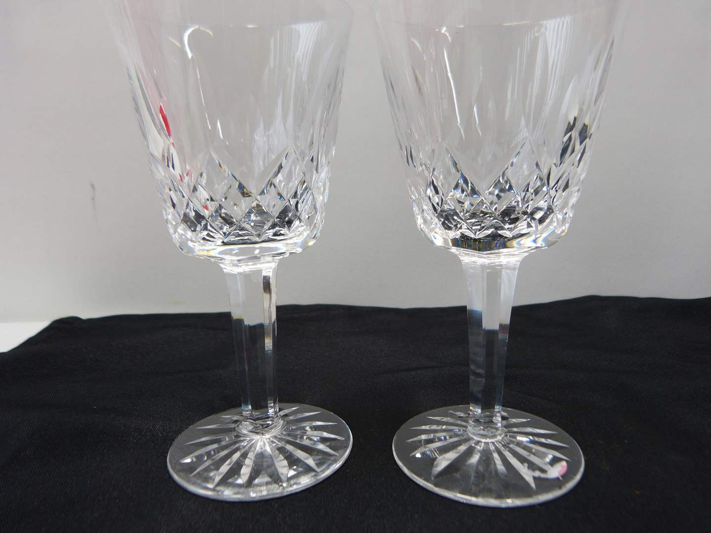 Lot # 31  2 Waterford Lismore Pattern wine glasses