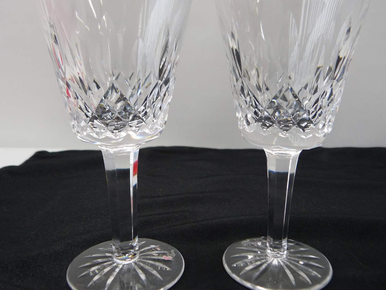 Lot # 33  Pair Waterford Lismore pattern wine glasses