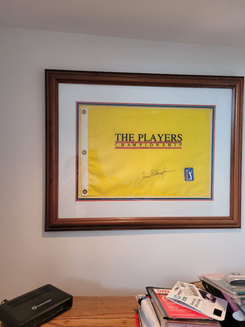 Lot # 4 Autographed Golf Flag