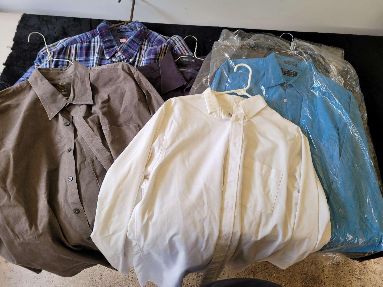 Lot # 50 (5) Assorted Mens Dress Shirts - Size XL