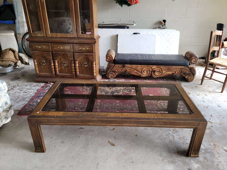Lot # 100 Wood & Glass Livingroom Table