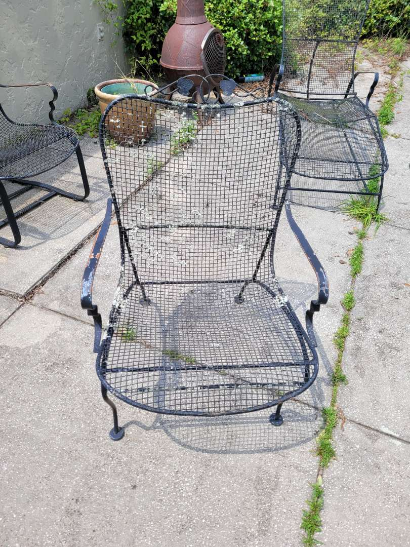 Lot # 111  Wrought Iron Chair