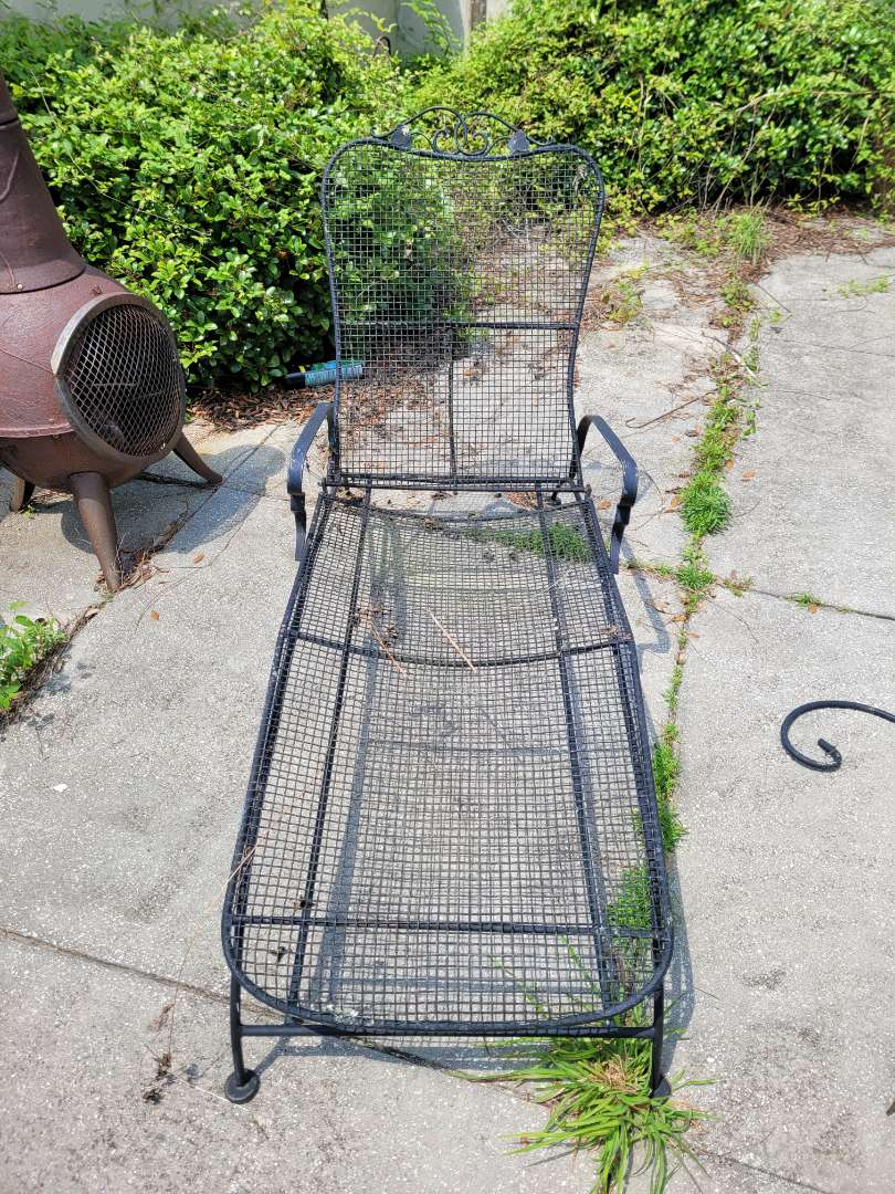 Lot # 113 Wrought Iron Lounge Chair