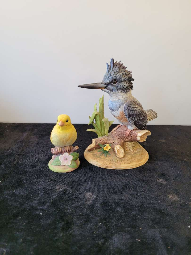 Lot # 147 (2) Andrea By Sadek Figurines - King Fisher & Canary