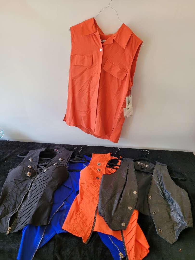 Lot # 158 Woman's Cloths - 4 Vests & 1 Tank Shirt
