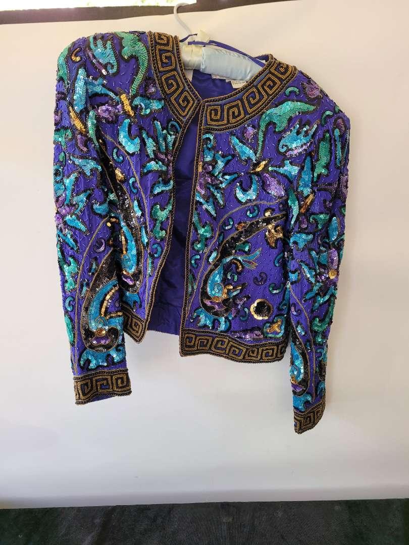 Lot # 160 Vintage Niteline Silk Beaded Sequin Open Evening Party Jacket