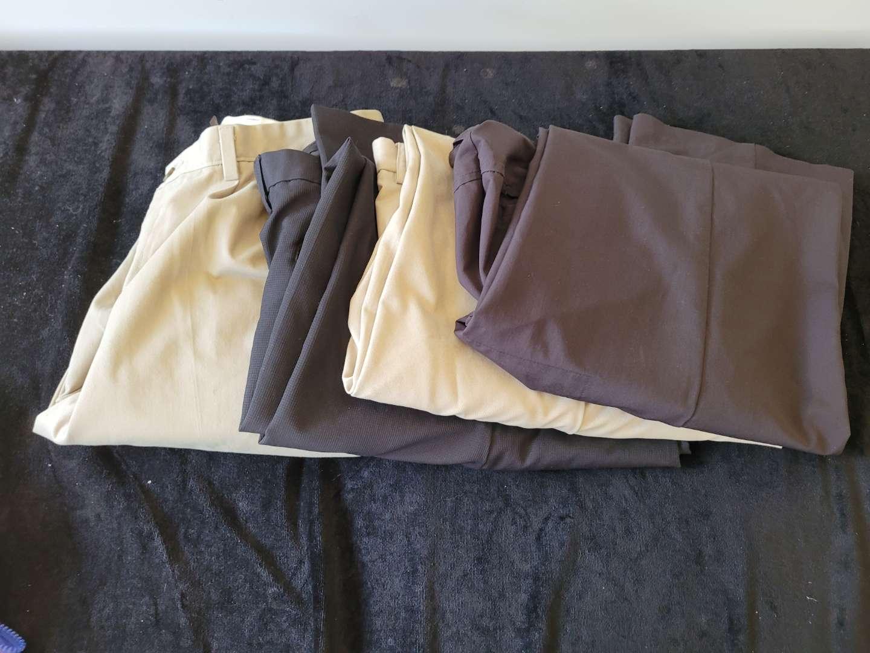 Lot # 163 Mens Dress Pants - 3 Izod & 1 Dockers