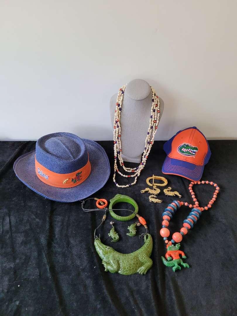 Lot # 168 Florida Gators Hats, Buckle Links & Jewerly
