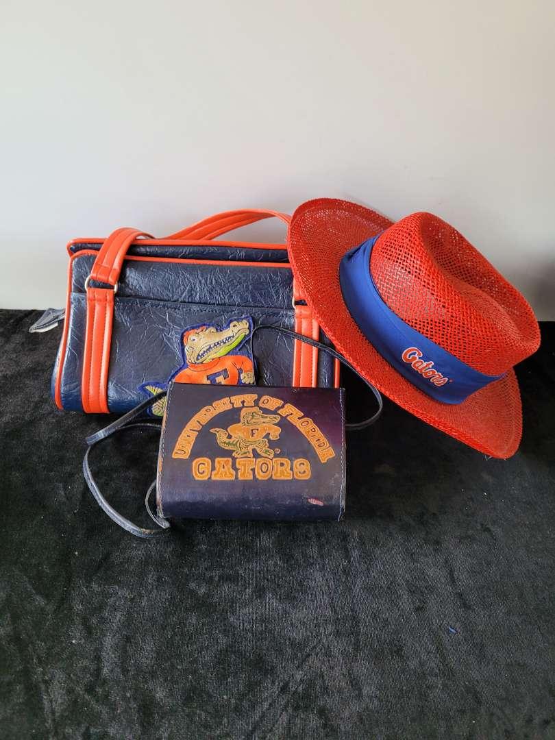 Lot # 178 Florida Gator Sun Hat & 2 Purses