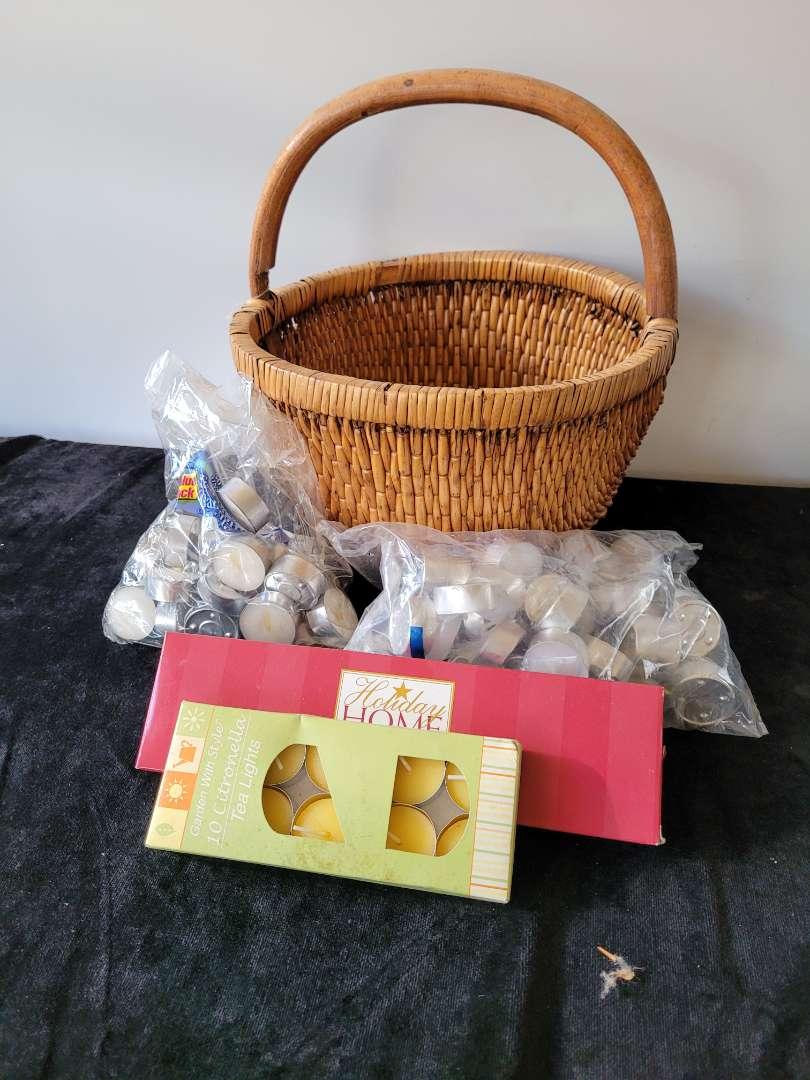 Lot # 180 Nice Basket w/ Collection of Tea Lights